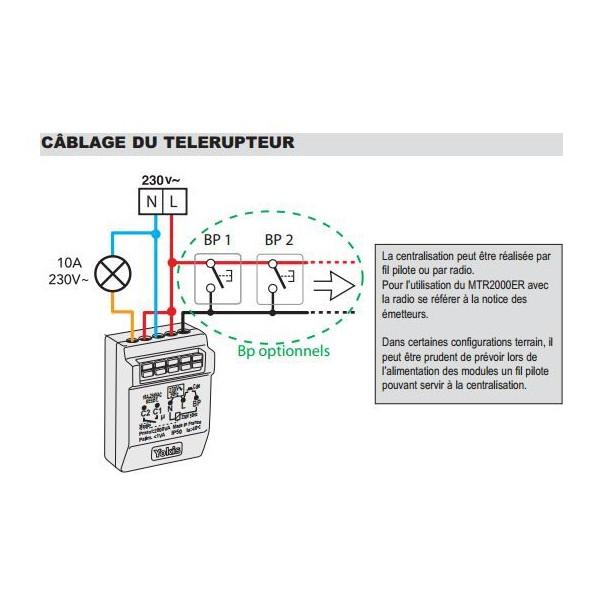 schema electrique telerupteur avec minuterie