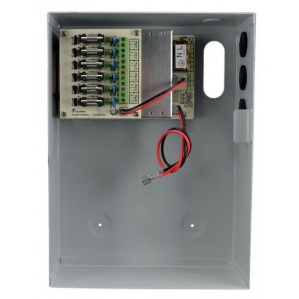limentation CCTV à découpage 12VDC 5A  6 sorties - secourue