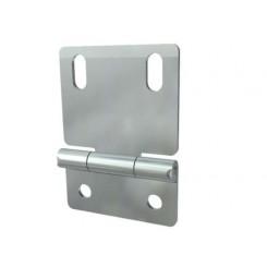 Charnière intermédiaire et latéral pour support roulette en plastique