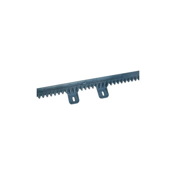 Crémaillère en nylon M4 6 attaches L. 1m avec pièce métallique interne