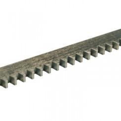 Crémaillère métallique zinguée 30x12 M4 L. 1m avec kit de fixation