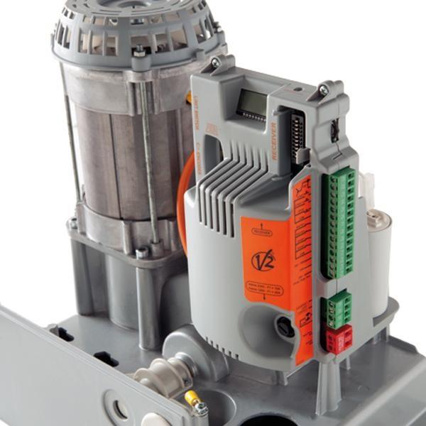 FORTECO V2HOME Motoréducteur électromécanique irréversible à crémaillère 230V pour portails coulissants jusqu'à 2200 kg de poids