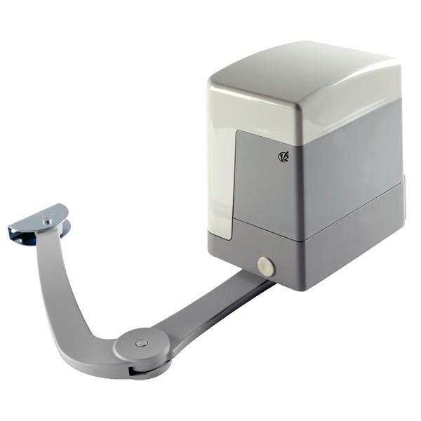 ZARISS V2HOME Opérateur électromécanique irréversible à bras articulé 24V pour portails battants avec vantaux jusqu'à 2,2 m