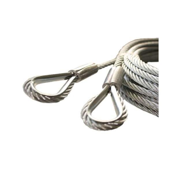 Câble Assemblé avec cosse acier galvanisé avec PP pour porte sectionnelle gunther Hormann javey crawford