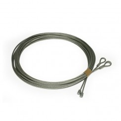 Câble acier  ø3 mm Assemblé des 2 cotés avec cosse pour porte sectionnelle  javey crawford Novoferme (la paire)