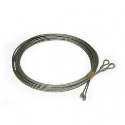 Câble acier  ø4 mm Assemblé des 2 cotés avec cosse pour porte sectionnelle  javey crawford Novoferme (la paire)