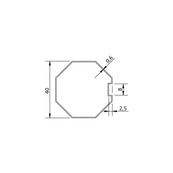 Poulie et couronne d'axe Octogonal Ø 40 pour adapter les moteurs v2