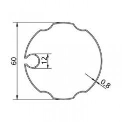 Poulie et couronne d'axe Gorge Ø 60 ondulée pour adapter les moteurs v2
