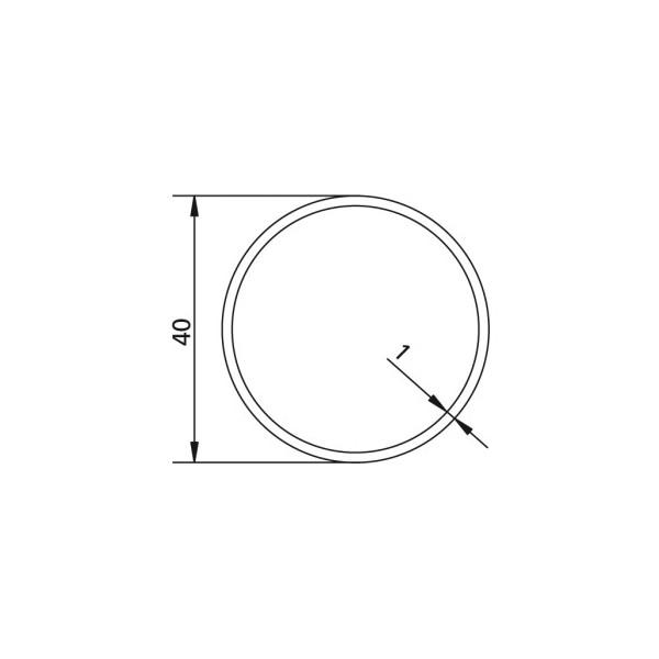 Poulie d'axe Rond Ø 40 x 1  pour adapter les moteurs v2