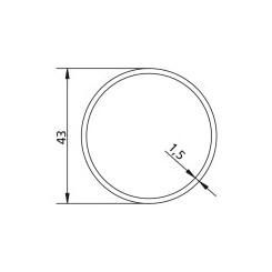 Poulie d'axe ROUND Ø 43 x 1,5 pour adapter les moteurs v2