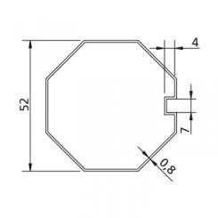 Poulie et couronne d'axe Octogonal Ø 52 pour adapter les moteurs v2