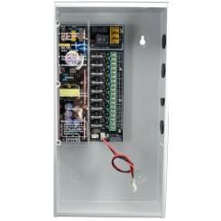 Alimentation CCTV à découpage 12VDC 8A  9 sorties - secourue